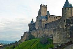 La Cité, Carcassonne, France Images libres de droits