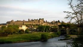 La Cité DE Carcassonne stock foto's