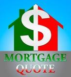 La cita de la hipoteca significa el ejemplo de Real Estate 3d libre illustration