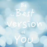 La cita de motivación hermosa con el mensaje sea la mejor versión o Fotos de archivo