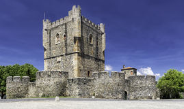 La citadelle, Braganca, Portugal images libres de droits