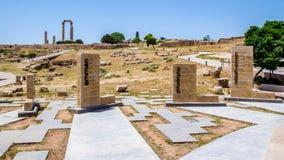 La citadelle d'Amman, en Jordanie Image stock