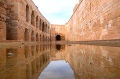 La citadelle de Qaitbay Image libre de droits