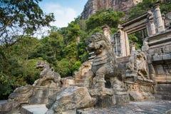La citadelle de Yapahuwa, Sri Lanka Image libre de droits