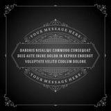 La citation d'ornement de vintage marque le vecteur de cadre de boîte Image libre de droits