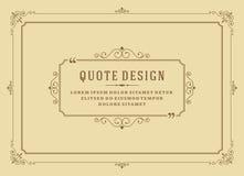 La citation d'ornement de vintage marque le vecteur de cadre de boîte illustration stock