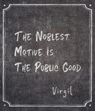 La citation de Virgil motrice la plus noble illustration libre de droits