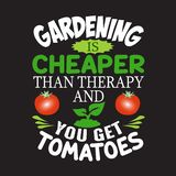 La citation et dire de jardinage bonnes pour des collections conçoivent illustration libre de droits