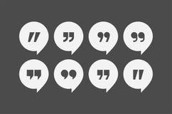 La citation marque des icônes de vecteur illustration de vecteur