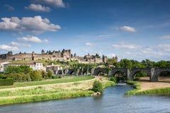 La Cite Carcassonne Languedoc France Stock Images