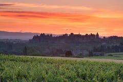 La citerar Carcassonne Royaltyfri Foto