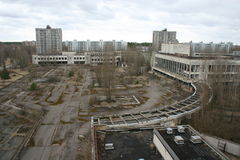 La città abbandonata di Pripyat, Chernobyl Fotografie Stock