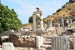 la città antica del ephesus fotografie stock