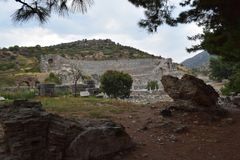 la città antica del ephesus immagine stock libera da diritti