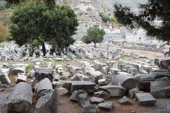 la città antica del ephesus fotografia stock