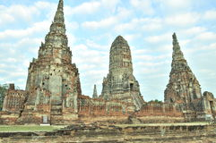 La città antica del si Ayutthaya di Ayutthaya Phra Nakhon fotografia stock