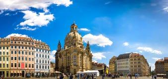 La città antica di Dresda, Germania Fotografie Stock Libere da Diritti