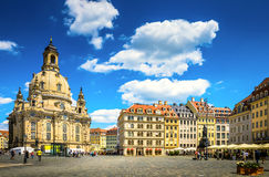 La città antica di Dresda, Germania Immagine Stock Libera da Diritti