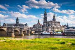 La città antica di Dresda, Germania Immagine Stock