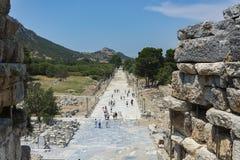 La città antica di Ephesus Efes nel turco situato vicino alla città di Selcuk di Smirne Turchia Fotografia Stock
