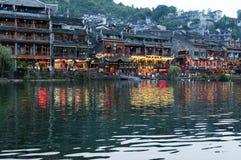 La città antica di FengHhuang Fotografie Stock Libere da Diritti