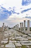 La città antica di Laodikeia aka Laodicea nella città di Denizli in costa egea della Turchia fotografia stock libera da diritti