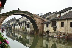 La città antica di Nanxun fotografia stock