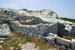 La città antica di Thracian di Perperikon Fotografia Stock Libera da Diritti