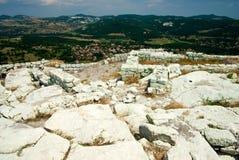 La città antica di Thracian di Perperikon Fotografia Stock