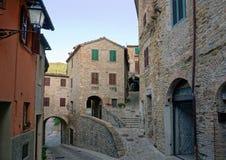 La città antica Serra San Quirico Fotografia Stock Libera da Diritti