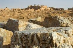 La città Assyrian rovinata di Resafa, Siria fotografie stock
