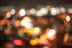 La città astratta illumina la priorità bassa Immagine Stock