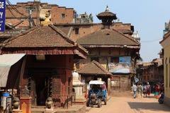 La città Bhaktapur Nepal Fotografia Stock Libera da Diritti