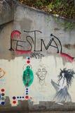 La città d'argento nanometro celebra i graffiti fotografia stock