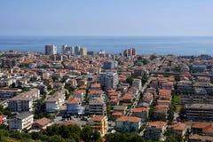 La città del montesilvano da sopra Fotografia Stock