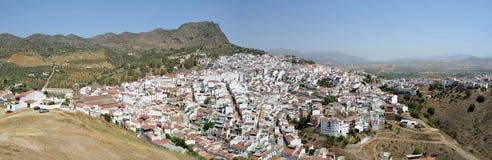 La città del pendio di collina di Alora Andalusia Spagna Fotografia Stock
