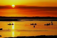 La città del tramonto diciassette settanta immagine stock