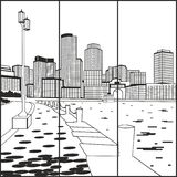 La città dell'acqua Fotografia Stock Libera da Diritti