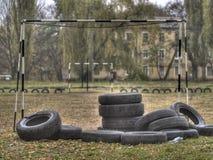 La città dell'infanzia di Poltavaautumn Fotografie Stock Libere da Diritti