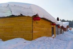 La città della neve Immagini Stock Libere da Diritti