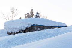La città della neve Immagini Stock