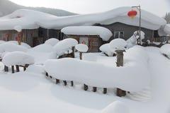 La città della neve Immagine Stock Libera da Diritti