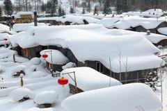 La città della neve Immagine Stock