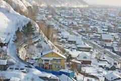 La città della regione di Tobol'sk Tjumen' Fotografia Stock Libera da Diritti