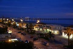 La città della spiaggia di Viareggio, Italia Fotografia Stock