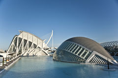 La città delle arti e della scienza a Valencia. Immagini Stock