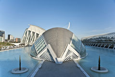 La città delle arti e della scienza a Valencia. Fotografie Stock