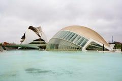 La città delle arti e delle scienze a Valencia Fotografia Stock Libera da Diritti