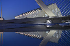 La città delle arti e delle scienze di Valencia fotografia stock