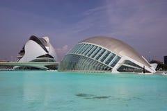 La città delle arti e delle scienze a Valencia Immagine Stock